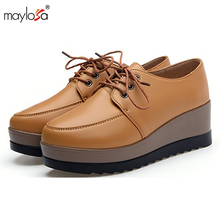 2017 women shoes Summer genuine leather flats shoes female casual flat women loafers shoes slips leather casual shoes ML06
