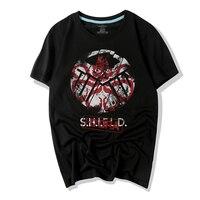 Hydra WBDDT & S.H.I.E.L.D T-shirt Mężczyźni Super Tarcza 3D Druku Bawełna US UE Plus Size Top Tees Transferu Kostium Homme Drop Shipping