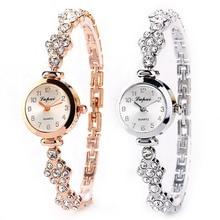 Fashion Women's Stainless Steel Crystal Dial Quartz Bracelet Luxury Wrist Watch