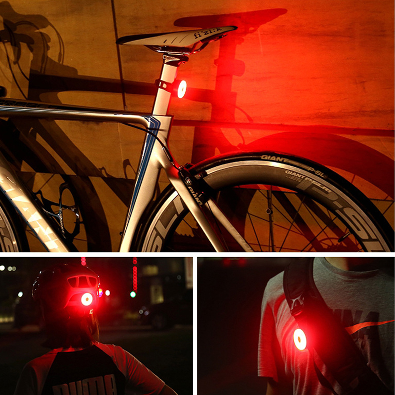 Bike Tail Light USB Rechargeable With 5 lighting Modes- High Intensity LED Light Bicycle Safety Lamp Fit on Helmets 6