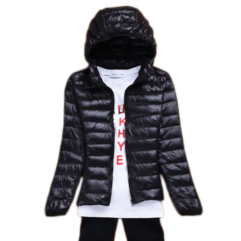 WSYORE Plus Size Ultra Light   Down   Jacket 2018 New Winter Thin Hooded Jacket Women Duck   Down     Coat   Jacket Short   Down   Jacket NS786