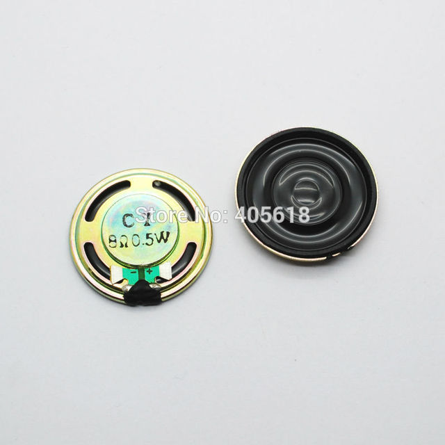 10pcs 0.5W speakers small speakers 8 ohm 8R 0.5W 0.5W8R diameter 32MM 3.2CM thick 5.2MM FREE SHIPPING