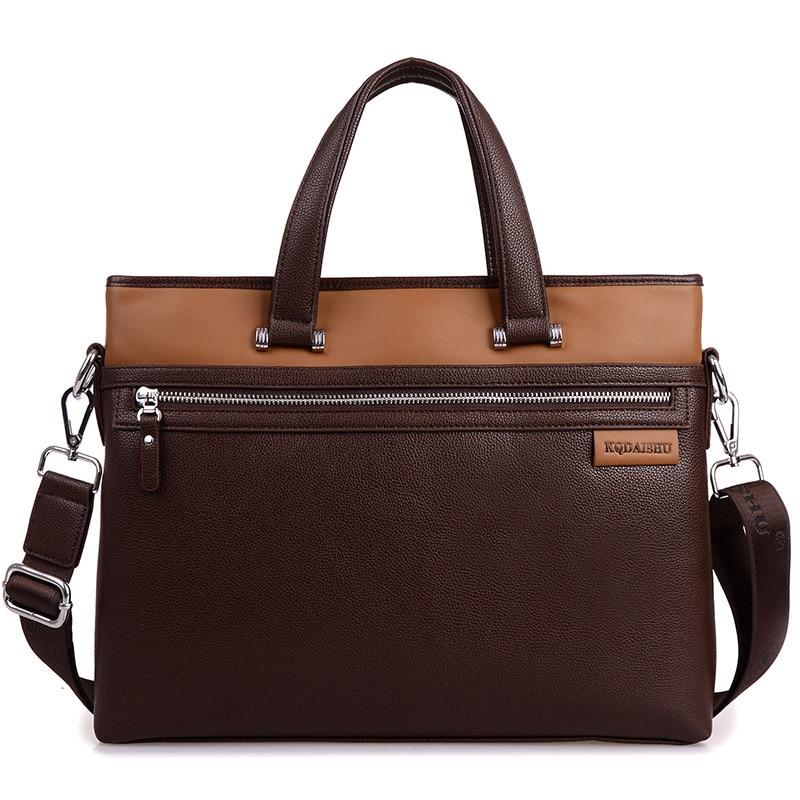 Large Capacity Vintage Leather Briefcase Men Business Laptop Tote Bags Casual Men's Leather Messenger Shoulder Bag Handbags все цены