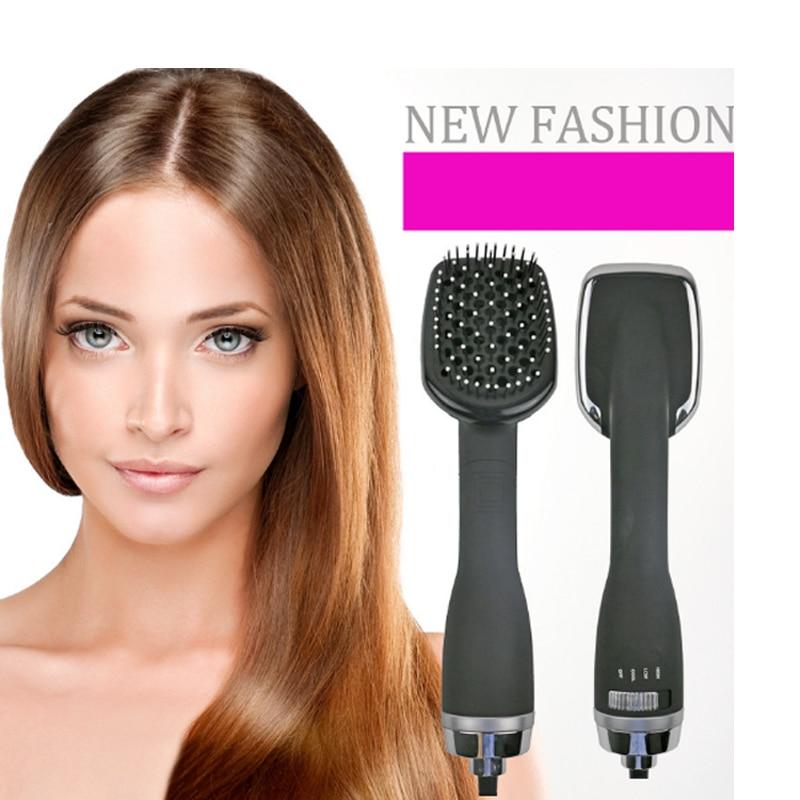 Professinal Salon hair Styler Brush Hair Dryer Comb Ionic Wet Hair Straightening Dryer Multi Color Hair Curler Brush multi shaped hair comb set 10pcs