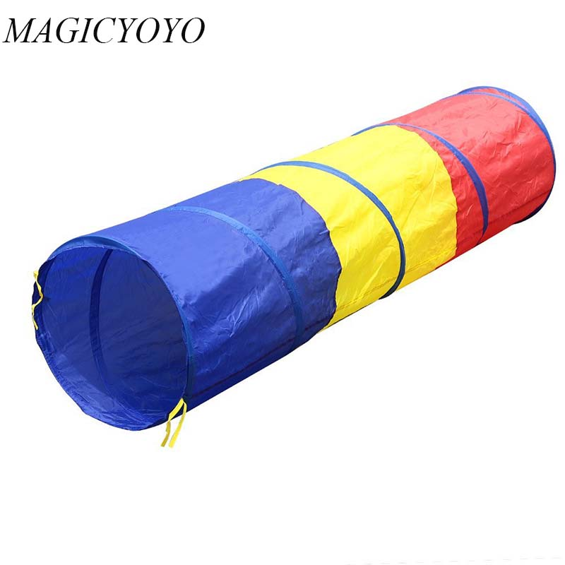 BabyToys Tricolor Tunnel Toys Tent Crawling Tunnel Children Outdoor Indoor Toys Tube Baby Play Crawling Games Tent
