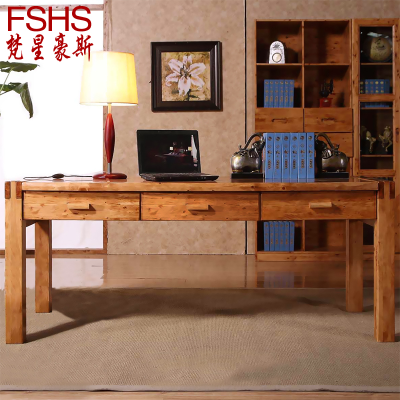 Fshs Cedar Wood Ikea Computer Desk Desktop Double Minimalist Home Office Table And 18 In Desks From Furniture On Aliexpress