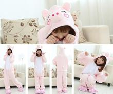 Cute  winter party clothes Unisex Pink pig cosplay costumes sleepwear animal Pajamas