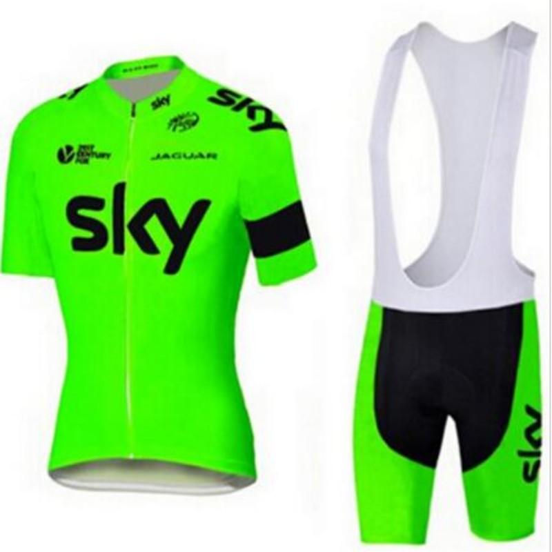 Prix pour 2016 team sky vélo clothing fluorescent couleur rapide sec vélo chemise à manches courtes mince air vélo vtt vêtements