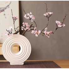 Artificial flower Cherry Spring Plum Peach Blossom Branch Silk Flower Tree bud For Wedding Party Decors 87