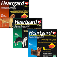 Heartgard Plus Chewables Heartworms Roundworms & Hookworms Treatment For Pets