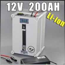 Светодио дный 12 В в 200AH Солнечный светодиодный storag литий-ионный аккумулятор 12,6 В в переносной аккумулятор водостойкий штекер