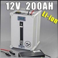 Светодио дный 12 В в 200AH Солнечный светодиодный storag литий ионный аккумулятор 12,6 В в переносной аккумулятор водостойкий штекер