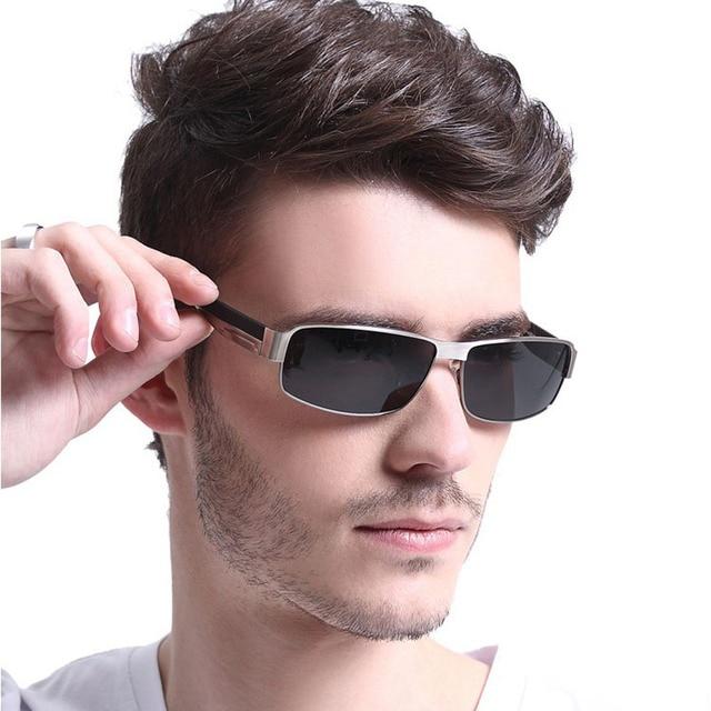 Steampunk Óculos Quadrados Homens Óculos De Sol Polarizados Luneta de Carter  Masculino Óculos de Sol de 0cec7fe6b3