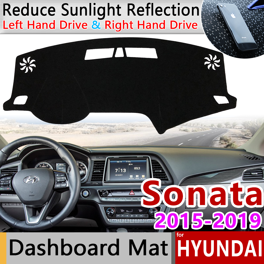 For Hyundai Sonata 2015 2016 2017 2018 2019 LF Anti-Slip Mat Dashboard Cover Pad Sunshade Dashmat Protect Carpet Car Accessories