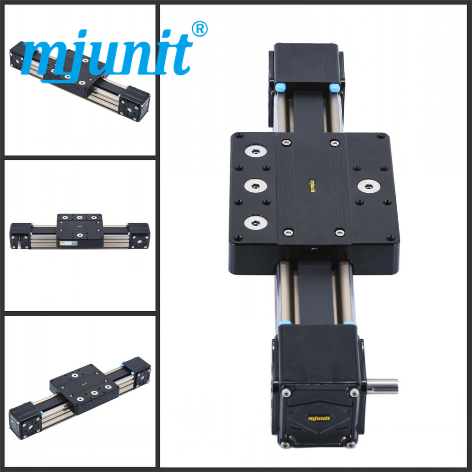 mjunit MJ80 Linear Rail Shaft Support Block for CNC Linear Slide Bearing Guide CNC Parts with 800mm stroke length mjunit xy postioning axis linear motion shaft support series slide cnc aluminum rail high quality