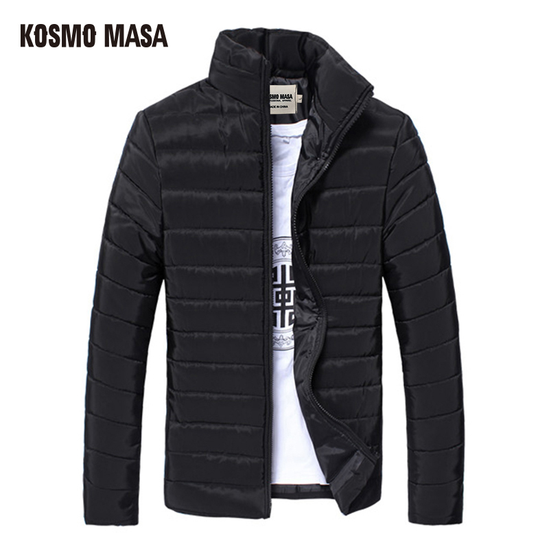 KOSMO MASA 2017 Cotton Thin Winter Jacket Parka For Men Spring Autumn Slim Casual Windproof Jackets Coat Mens Down Parkas MP018