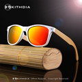 KITHDIA New Polarized Wood Sunglasses Men Sunglasses Wooden Sun Glasses Bamboo Legs Mens Women Brand Designer Oculos de sol