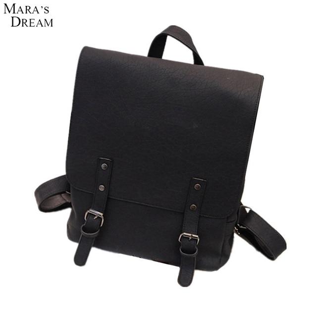 5e360cc4f8cc Mara s Dream Hot Sale Fashion Casual Hard Solid Backpack Women Han Ban PU  Leather High Quality