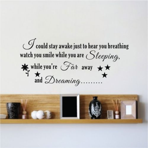 Aerosmith Breathing Quote Vinyl Wall Art Sticker Decal: Aerosmith Lyrics STAY AWAKE Breath QUOTE ART WALL STICKER