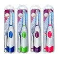 Взрослый Вращающийся Антипробуксовочная Водонепроницаемый Электрическая Зубная Щетка с 2 Насадки-Щетки Автоматическая Зубная Щетка Oral Hygiene Dental Care