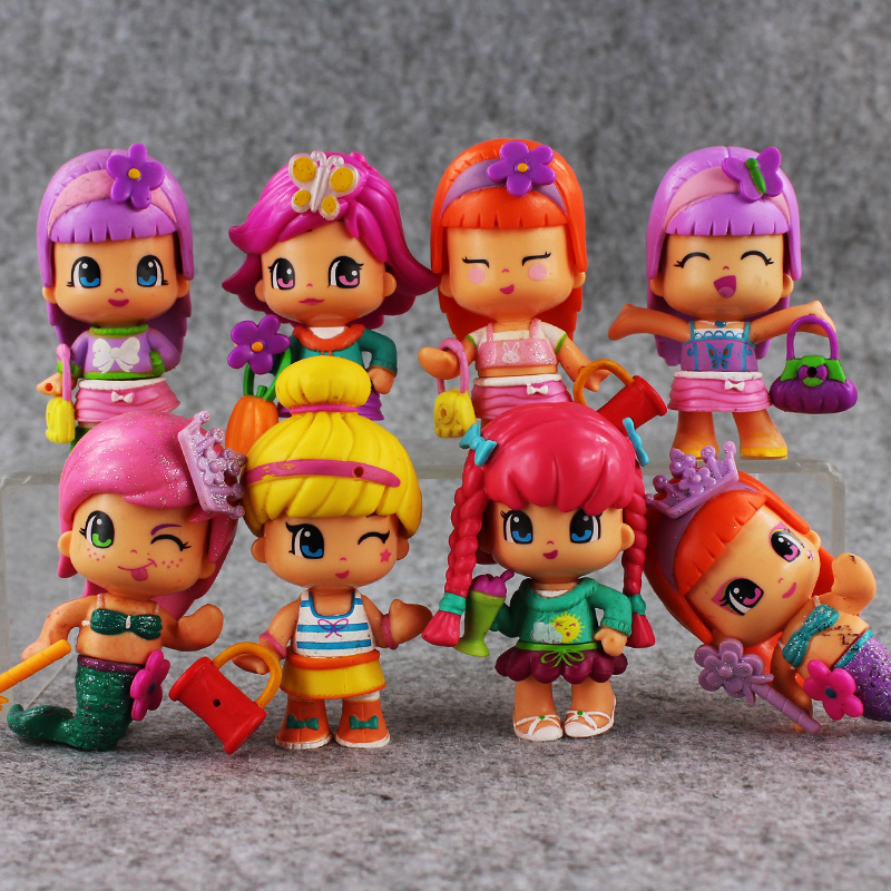 New 8pcs/lot Little Girls Mermaid Mini PVC Action Figure