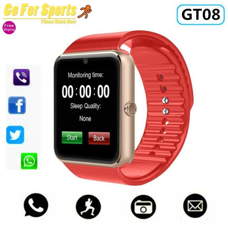 GT08 montre intelligente pour Apple montre hommes femmes Android montre-bracelet électronique intelligente Smartwatch avec caméra SIM TF carte PK Y1 X6 A1