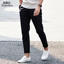 Enjeolon brand 2017 novo dugo hlače Straight casual hlače čovjek, modni stane crno khaki hlače muški slobodna dostava K6245