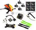 DIY FPV мини drone Robocat 270 quad Стекловолокна/углерода рамка комплект NAZE32 10DOF + ESC EMAX 2204II 2300KV + BL12A oneshot125 + камера