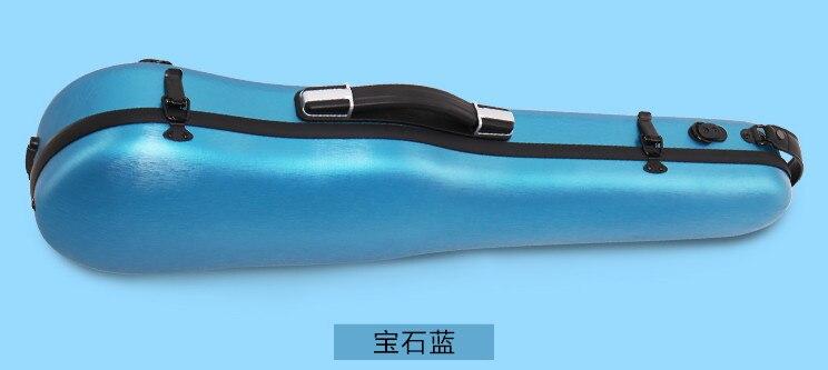 Синий 4/4 чехол для скрипки золотой цвет кодовый замок карбоновый квадратный чехол Yinfente - Цвет: Синий