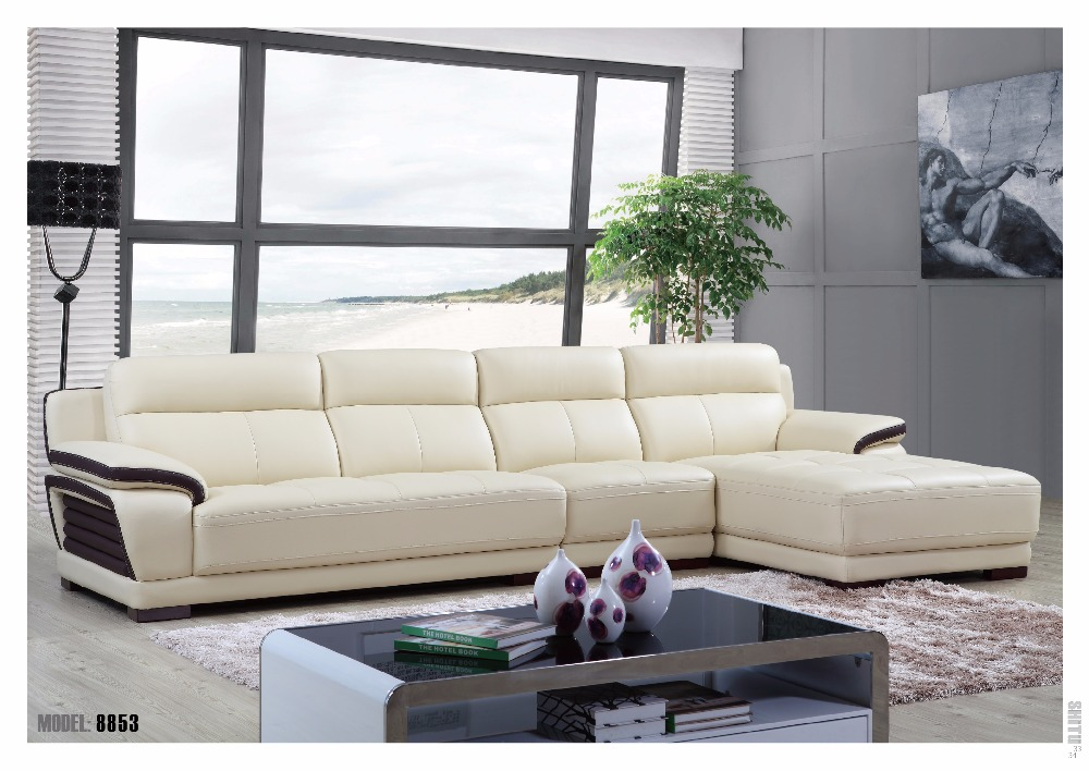 Living Room Furniture Modern Leather L Shape Sofa Cover-in