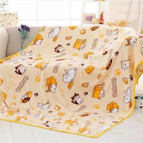 Candice guo brinquedo de pelúcia estilo dos desenhos animados neko atsume pátio gato macio ar condicionado cama cobertor fronha resto dormir presente 1pc