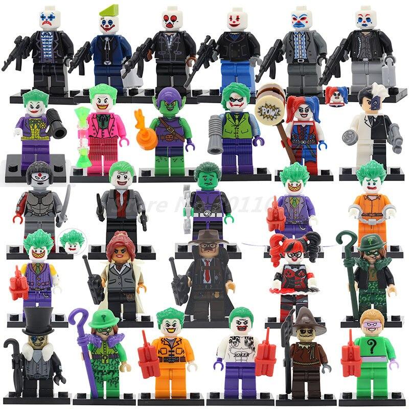 POGO Joker Figure Series Batman Suicide Squad Movie Harley Quinn Villain Building Blocks Set Bricks Classic