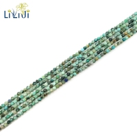 LiiJi Unique Natural Real Green Africa Turquoises Round Facted Tiny Beads 2mm DIY Jewelry Making Approx