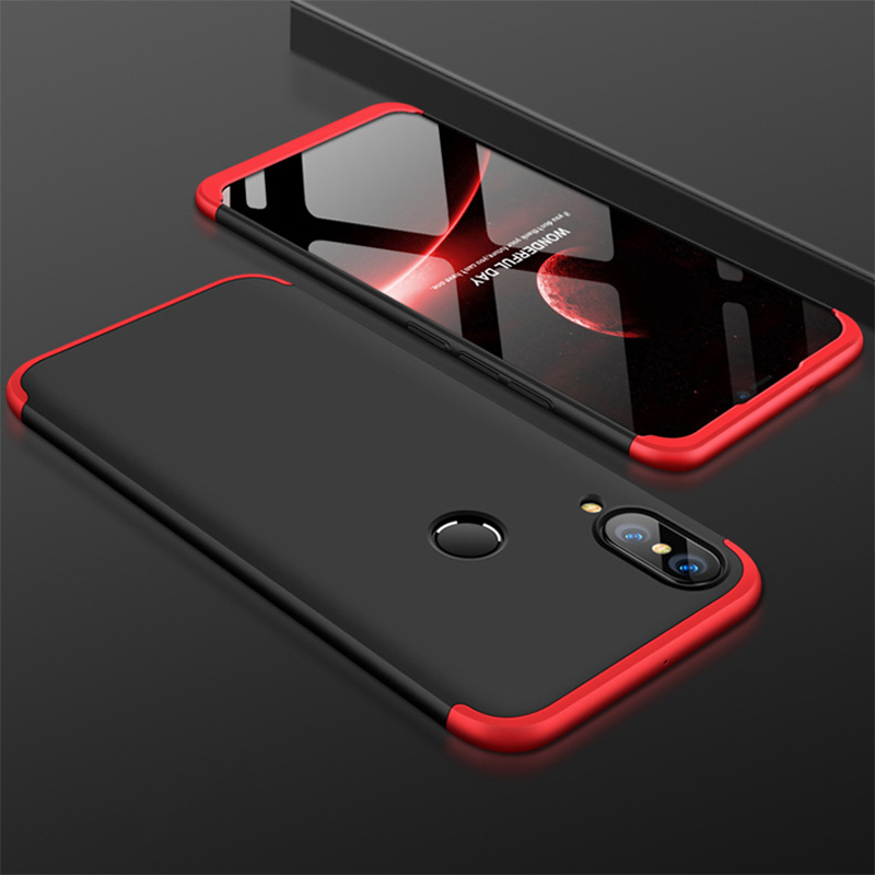 3 In 1 Design Hard PC Protection Case Huawei P20 Lite Shock-Proof Hybrid 360 Full Body Hard Case For Huawei P20 Lite Back Cover