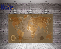 kate world map photography backdrop 7x5ft Navigation chart photo studio backdrop photography cotton washable backdrop
