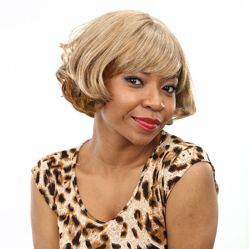 Short Blonde Curly Wig Synthetic Short Wigs For Black Women African Women Wigs Natural Hair ...