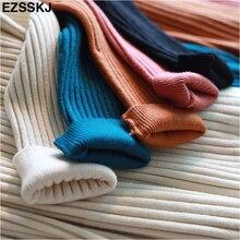 elegant Long sleeve OL O-neck long Sweater dress women Thick knit Autumn Winter dress female Slim A-line basic dress casual