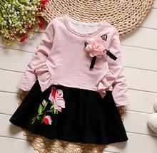 2017 Lovely Girls  Tee Shirt and skirts With floral Clothes Set for Kids Girl spring Autmn Children Clothing Sets HB3046