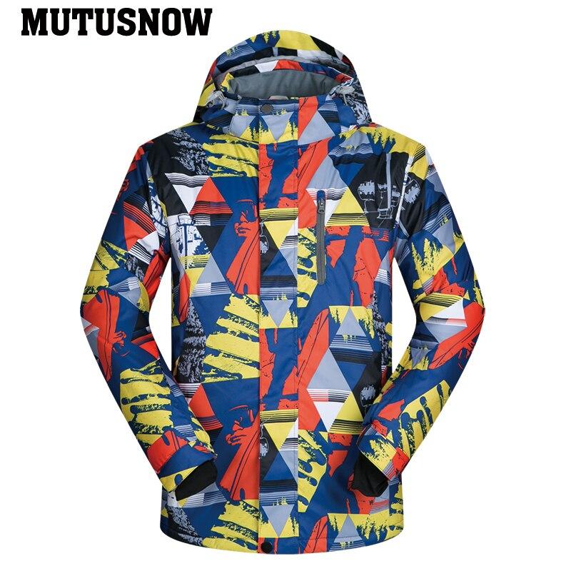 2019 nouveaux hommes veste de Ski pantalon de Ski hiver chaud coupe-vent imperméable Sports de plein air marques de snowboard manteau de Ski pantalon costume de Ski - 5