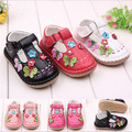 2015 Fashion Soft Leather Baby Shoes First Walkers Skid-Proof Kids Girls Princess Shoes Flowers Newborn Outside Shoes