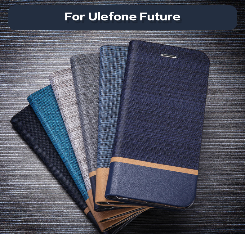Business Style Leather Phone Bag Case For Ulefone Future Flip Wallet Case PC Shell Back Cover For Ulefone Future Card Slot Case