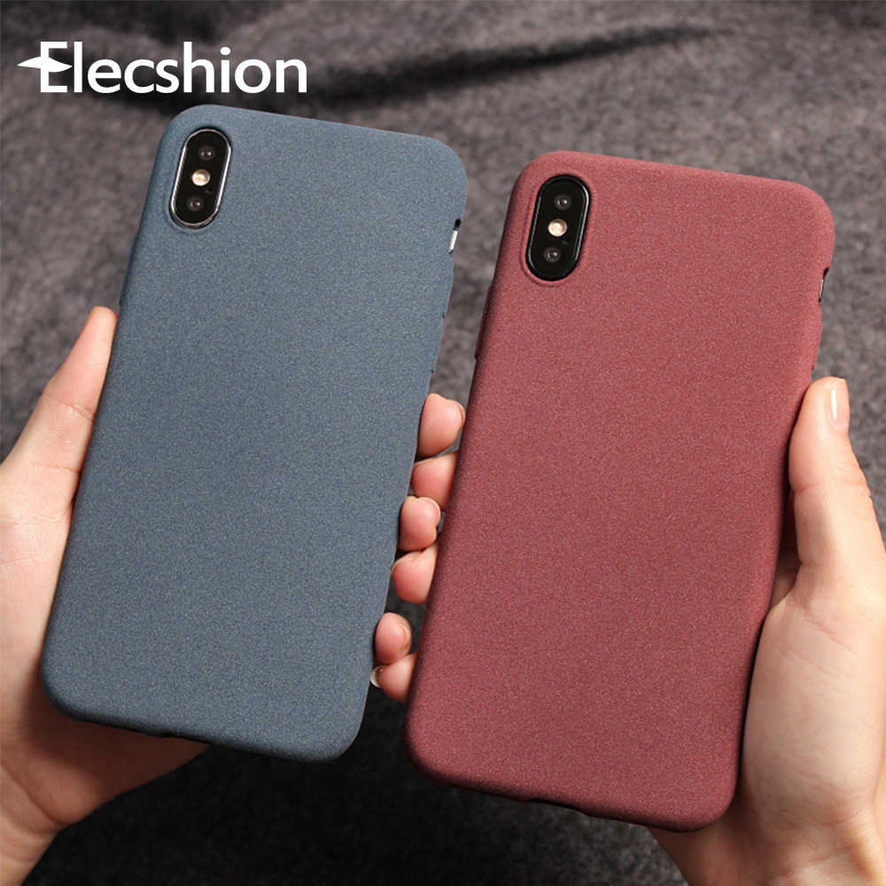 Luxury Matte Phone Case For iPhone 7 Case	Business Ultra Thin For iPhone X XS Max XR Soft TPU Silicone Cover 7 8 6 6s Plus Coque