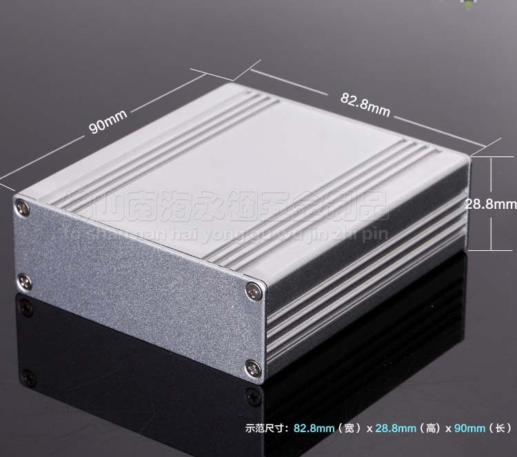 Aluminum enclosure extrusion power shell PCB project case box 82.8 X 28.8 X 90mm DIY electronics enclosure oem 30 x 30 diy 30x30cm