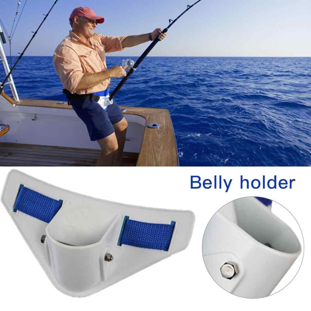 Fishing Durable Boats Rod Pole Stand Holder Saltwater Fishing Fighting Belt Waist Support Holder Adjustable Sea Belt