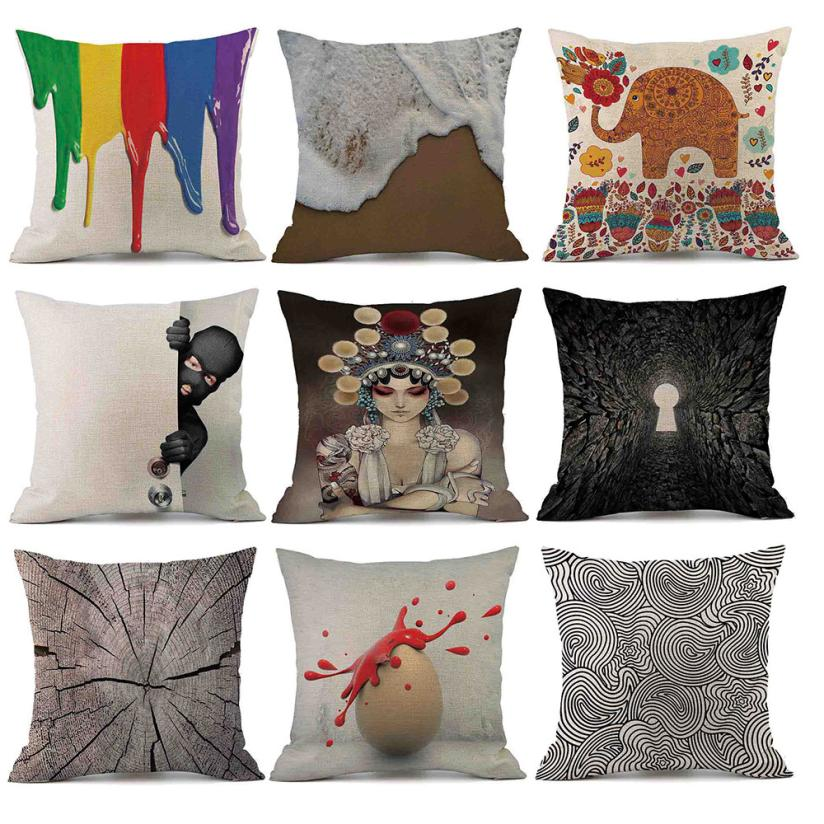 OUNEEDSofa Bed Home Decoration Festival Pillow Case Cushion Cover Sofa Car Cushion Creat ...