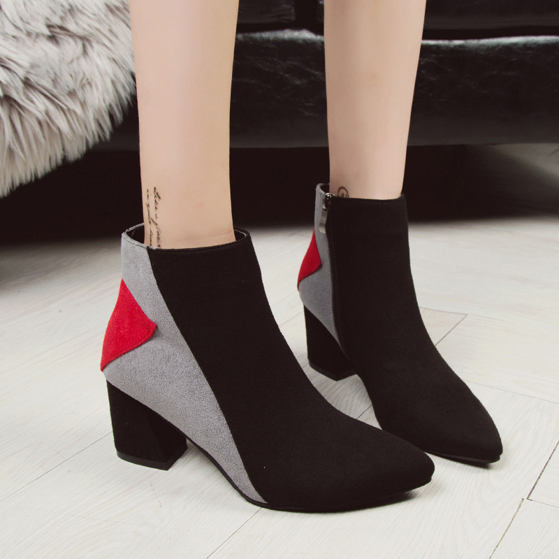 ye D'hiver Casual Talons Pompes Mode Style Cheville Chaussures Zipper Femmes Bottes Sexy Haute Confortable Rd YZ6BTqFwE