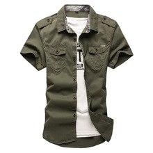 2020 신사용 카고 전술 셔츠 100% 코튼 반팔 작업 브랜드 밀리터리 셔츠 Chemise Plus size 5XL