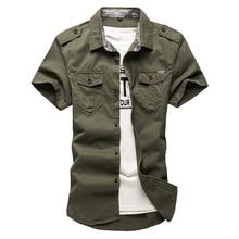 2020 nova carga dos homens camisas táticas 100% algodão manga curta trabalho marca militar camisa chemise plus size 5xl