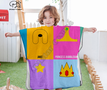 Cartoon adventure time funny Hooded baby Boys and Girls Towel Wearable Bath Towel For Kids Travel 3D print Beach Towels style-8 molly moon s hypnotic time travel adventure