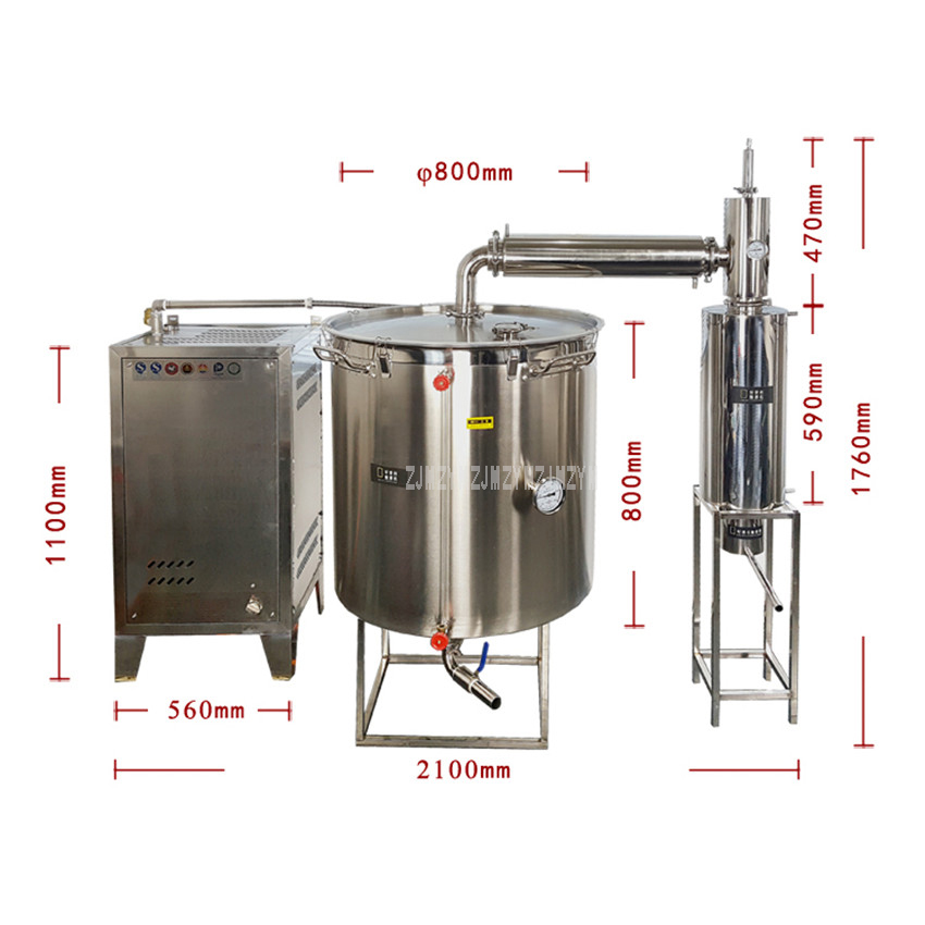 400L Double Cooler Large Wine Brewing Equipment With Steam Generator Liquor Distillation Commercial Wine Making Machine 3